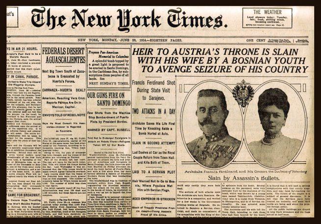 Journal New-York Times, juin 1914