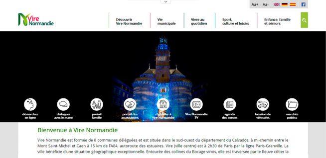 Le nouveau site internet de Vire Normandie