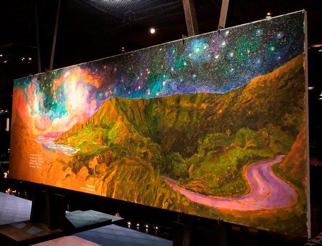 Huile sur toile de l'artiste navigateur Titouan Lamazou