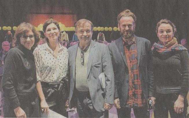 Pauline Sales, Vincent Garanger et leur équipe
