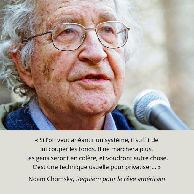 Noam Chomsky, Requiem pour le rêve américain