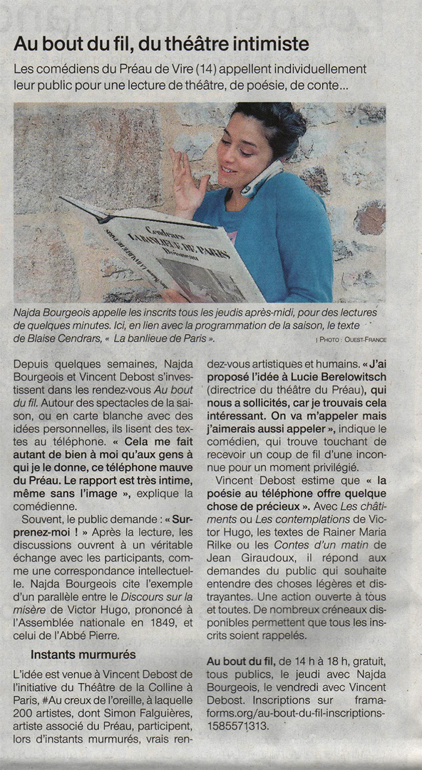 Ouest-France article 28 avril 2020